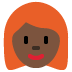 👩🏿‍🦰 woman: dark skin tone, red hair Emoji on Twitter Platform