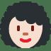 👩🏻🦱 Light Skin Tone Curly Hair Woman Emoji on Twitter Platform
