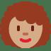 👩🏽🦱 Medium Skin Tone Curly Hair Woman Emoji on Twitter Platform