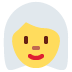 👩‍🦳 woman: white hair Emoji on Twitter Platform