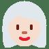 👩🏻🦳 woman: light skin tone, white hair Emoji on Twitter Platform