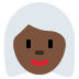 👩🏿‍🦳 woman: dark skin tone, white hair Emoji on Twitter Platform