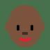👩🏿🦲 woman: dark skin tone, bald Emoji on Twitter Platform