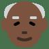 👴🏿 old man: dark skin tone Emoji on Twitter Platform