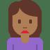 🙍🏾 person frowning: medium-dark skin tone Emoji on Twitter Platform