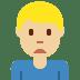 🙍🏼♂️ man frowning: medium-light skin tone Emoji on Twitter Platform