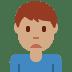 🙍🏽♂️ man frowning: medium skin tone Emoji on Twitter Platform