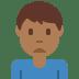 🙍🏾♂️ man frowning: medium-dark skin tone Emoji on Twitter Platform