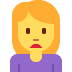 🙍‍♀️ woman frowning Emoji on Twitter Platform