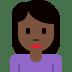 🙍🏿♀️ woman frowning: dark skin tone Emoji on Twitter Platform