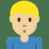 🙎🏼♂️ man pouting: medium-light skin tone Emoji on Twitter Platform