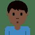 🙎🏿♂️ Dark Skin Tone Man Pouting Emoji on Twitter Platform