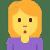 🙎♀️ woman pouting Emoji on Twitter Platform