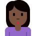 🙎🏿‍♀️ woman pouting: dark skin tone Emoji on Twitter Platform