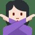 🙅🏻 person gesturing NO: light skin tone Emoji on Twitter Platform