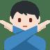 🙅🏻♂️ man gesturing NO: light skin tone Emoji on Twitter Platform