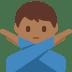 🙅🏾♂️ Medium Dark Skin Tone Man Gesturing No Emoji on Twitter Platform