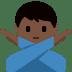 🙅🏿♂️ Dark Skin Tone Man Gesturing No Emoji on Twitter Platform