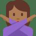 🙅🏾♀️ woman gesturing NO: medium-dark skin tone Emoji on Twitter Platform