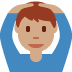 🙆🏽♂️ man gesturing OK: medium skin tone Emoji on Twitter Platform