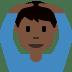 🙆🏿♂️ man gesturing OK: dark skin tone Emoji on Twitter Platform