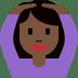 🙆🏿♀️ woman gesturing OK: dark skin tone Emoji on Twitter Platform