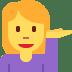 💁 person tipping hand Emoji on Twitter Platform