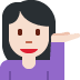 💁🏻 person tipping hand: light skin tone Emoji on Twitter Platform