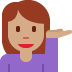 💁🏽 person tipping hand: medium skin tone Emoji on Twitter Platform