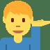 💁♂️ man tipping hand Emoji on Twitter Platform