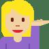 💁🏼♀️ woman tipping hand: medium-light skin tone Emoji on Twitter Platform