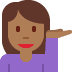 💁🏾‍♀️ woman tipping hand: medium-dark skin tone Emoji on Twitter Platform