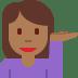 💁🏾♀️ woman tipping hand: medium-dark skin tone Emoji on Twitter Platform