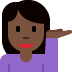 💁🏿‍♀️ woman tipping hand: dark skin tone Emoji on Twitter Platform