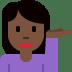 💁🏿♀️ woman tipping hand: dark skin tone Emoji on Twitter Platform