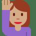 🙋🏽 person raising hand: medium skin tone Emoji on Twitter Platform