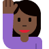🙋🏿 person raising hand: dark skin tone Emoji on Twitter Platform