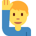 🙋♂️ man raising hand Emoji on Twitter Platform