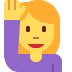 🙋‍♀️ woman raising hand Emoji on Twitter Platform