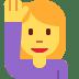 🙋♀️ woman raising hand Emoji on Twitter Platform