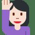 🙋🏻♀️ woman raising hand: light skin tone Emoji on Twitter Platform