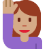 🙋🏽‍♀️ Medium Skin Tone Woman Raising Hand Emoji on Twitter Platform