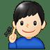 🧏🏻♂️ deaf man: light skin tone Emoji on Twitter Platform