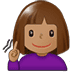 🧏🏽♀️ deaf woman: medium skin tone Emoji on Twitter Platform