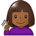 🧏🏾‍♀️ deaf woman: medium-dark skin tone Emoji on Twitter Platform