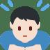 🙇🏻♂️ man bowing: light skin tone Emoji on Twitter Platform