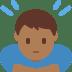 🙇🏾♂️ man bowing: medium-dark skin tone Emoji on Twitter Platform