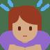 🙇🏽♀️ woman bowing: medium skin tone Emoji on Twitter Platform