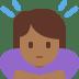 🙇🏾♀️ woman bowing: medium-dark skin tone Emoji on Twitter Platform