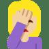 🤦🏼 person facepalming: medium-light skin tone Emoji on Twitter Platform